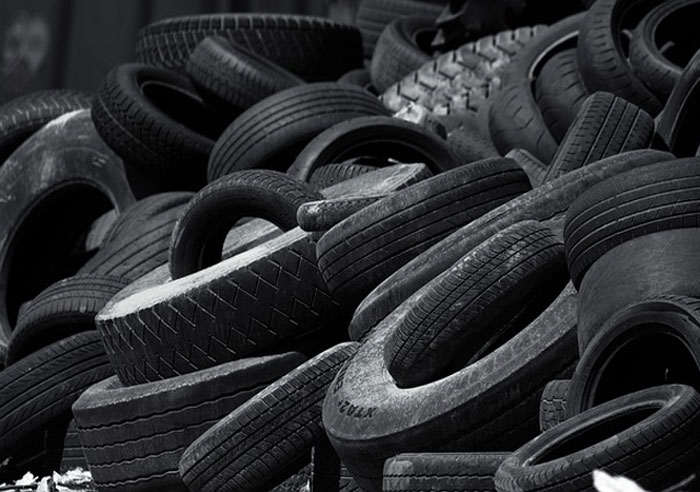 Recycling tires to produce rCB.